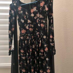 Aritzia floral long sleeve dress